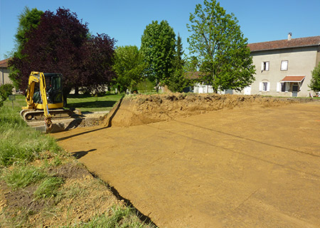 Travaux publics romain perrier tp for Terrassement maison